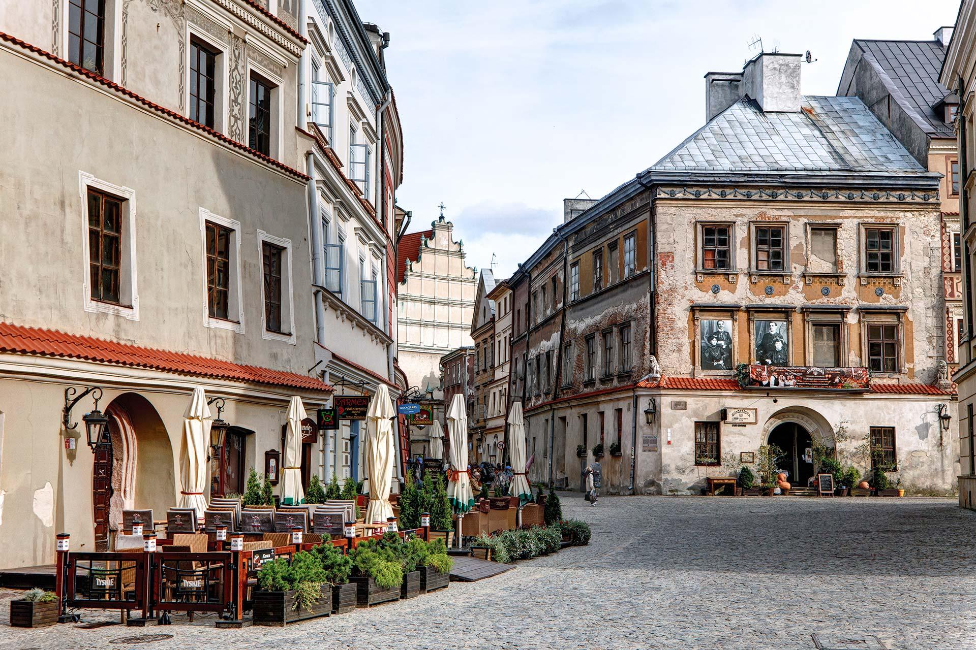 Kamienice Starego Miasta za dnia