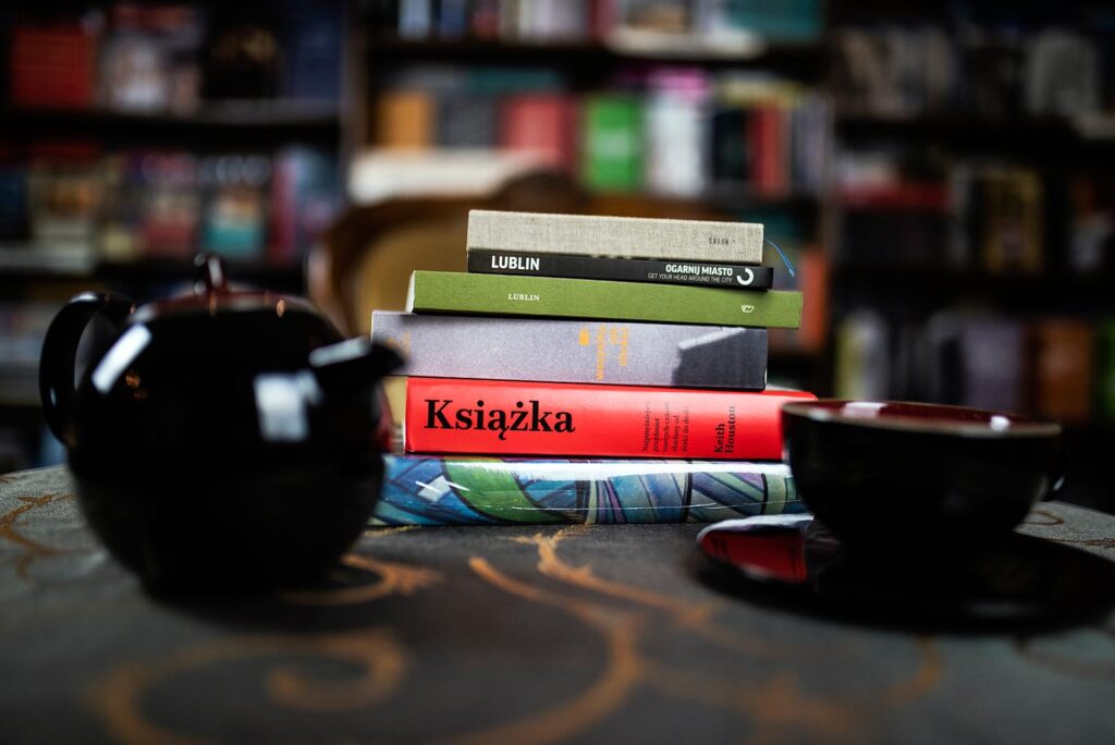 Książki na stole