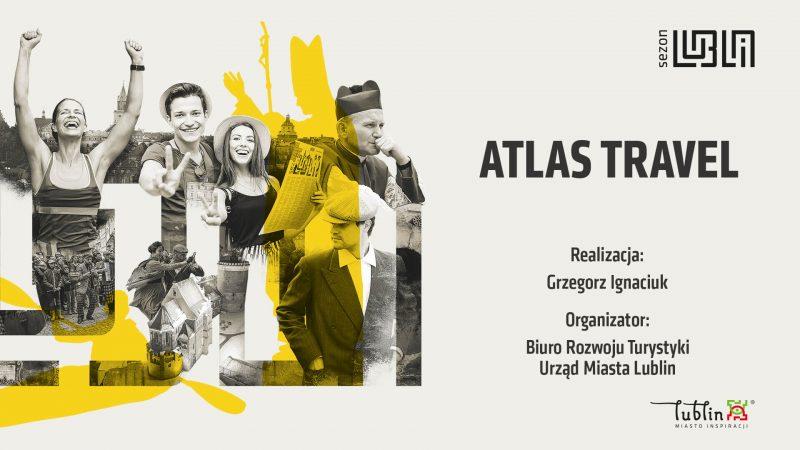 Plansza Atlas Travel, organizatora wycieczek zmotoryzowanych po Lublinie