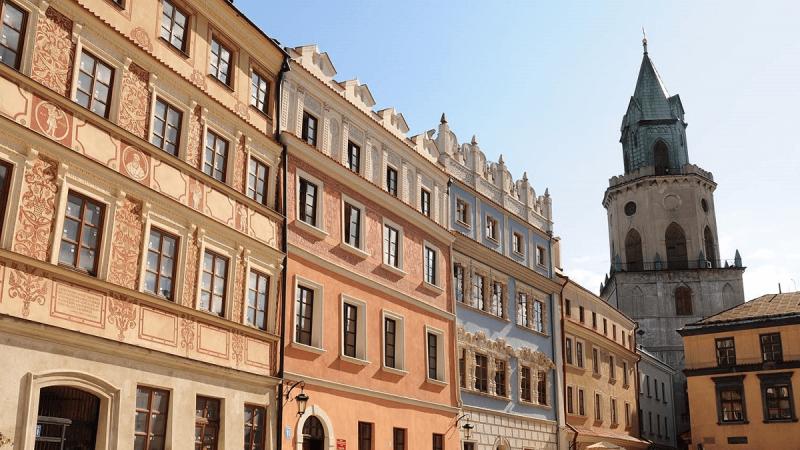 Kamienice oraz Wieża Trynitarska w Lublinie
