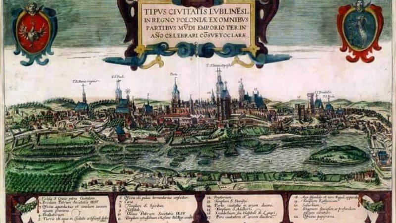 Mapa Lublina szesnastowiecznego - rycina